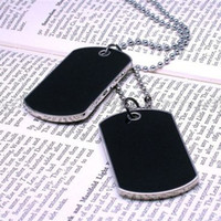 army dog tags - S5Q Fashion Cool Army Style Cool Black Dog Tag Beauty Men Boy Pendant Necklace AAABSL