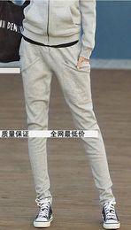 Wholesale Fashion Girl Hoodies Pant Plus Size Korean Sports Harem Palazzo Pants Casual Slim Thicken XN07
