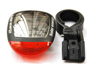 Wholesale 2013 NEW Solar Bicycle Tail Light taillight systems riding bike riding taillight warning light energy saving quality products led