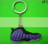 Wholesale sports keychain Foamposi One shoes key chain PVC D sneaker keychain Fan souvenirs mens designer Keychains