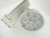 Wholesale top kind w LED Track Lighting LED Clothing Spotlight led track light white or black color shell
