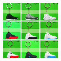 Wholesale Fan souvenirs designer men Keychains sports Key Rings for men shoes keychain PVC D sneaker keychain