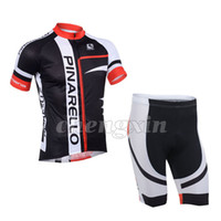 Wholesale New Pinarello Black Red Bike Bicycle Team Out Sports Suit Cycling Jersey Shirt BIB Shorts XS XL