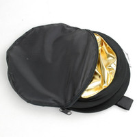 Wholesale 32 quot cm Gold and silver Folding Large Flash Reflector Board two Colors cm Diameter