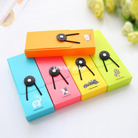 Metal Pencil Case  Min. order is $15 (mix order) Multicolour fashion brief elastic strap button stationery pencil case 5127