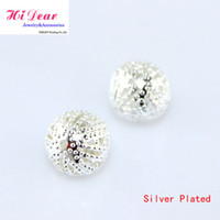 Wholesale Filigree Hollow Spacer Beads Jewelry Metal Crimp End Beads Silver Plated mm Making Findings DIY Jelwellery Accessories