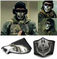 Wholesale Bike Motorcycle Ski Snow Snowboard Skull Face Warm Warmer Face Paintballing Mask
