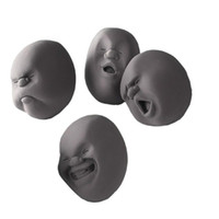 Wholesale Fress shipping Novelty CAOMARU Stress Relievers Toy Anti stress Tool Vent human Face Balls Christmas Gift Color