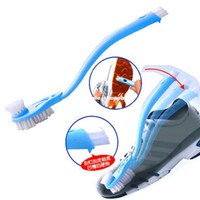 Wholesale Revitalization of double slider long handled brush cleaning wash shoes hard wool sa7819 soft bristle