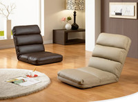 modern sofa leather - Foldable Floor Seating Chair Level of Adjustable Reclining Back Sofa Cushion PU Leather Colors Available Modern Fashion Leisure Chair