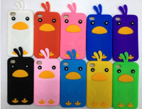 Wholesale Cute D Cartoon Chick Chicken Run Case Skin for iPod touch th Cover Cases