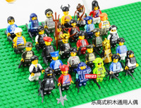 Wholesale 30pcs Minifigures With Weapons Different Model Figures Building Blocks Sets Educational DIY Bricks Toys
