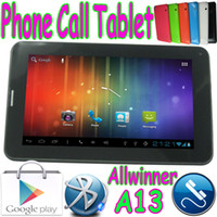 Wholesale 86V Cheapest quot G GSM Phone Call Tablet PC Capacitive Touch Screen Allwinner A13 Boxchip Android Dual Camera WIFI Bluetooth MID