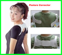 Back   Hot selling 100 pcs lot Posture Corrector Beauty Body Back Support Shoulder Brace Band Belt Correction free shipping