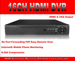 Wholesale 16CH HDMI CCTV DVR Recorder with VGA HDMI output P2P Cloud Service Remote View Network Mobile Phone View