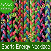 Chokers   Ionic Titanium Necklaces Baseball balance necklace Nylon Corded Necklace Enhance & Maintain Health necklace