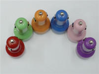 Wholesale New Colors Colorful Dual Port USB Car Charger High Quality v DC for iPad iPhone G S iPod A HTC EVO G