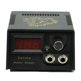 Wholesale Black Casting LCD Digital Tattoo Power Supply Machine Golden lion Design AU Plug Pins
