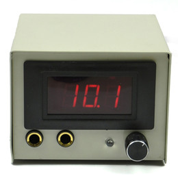 Wholesale 2013 Iron Casing LCD Digtal Display Tattoo Power Supply AU Plug Pins White black