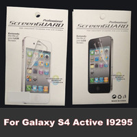 Front active cleaner - Clear Front Screen Protector Guard Film Cleaning Cloth For Samsung Galaxy S4 Active I9295