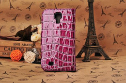 Leather Wallet Case For Samsung Galaxy S4 i9500 with green,pink,black,white + Free Shipping
