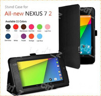 Wholesale 2013 new Google Nexus case stand leather case cover pouch skin for nd Generation Google Nexus colors