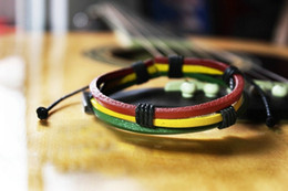 Wholesale HEMP THREAD RASTA CUFF BRACELET BRAIDED RASTA FRIENDSHIP BRACELET Bob Marley