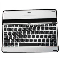Wholesale Aluminum Bluetooth Mobile Keyboard for iPad Wireless Stand keyboard black and white DHL