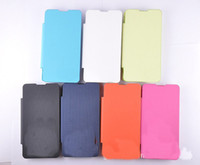 Wholesale 1 PU Flip Leather with Back Battery Cover Case for Huawei Ascend Y300 U8833 T8833 In retail package Colorfu
