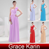 Grace Karin Elegant Empire One Shoulder with Flower Long Chi...
