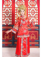 Floor-Length traditional chinese wedding dress - Noble Ethnic Chinese traditional style wedding dress toast cheongsam bride wedding cheongsam heavy handwork embroider flower cheongsam