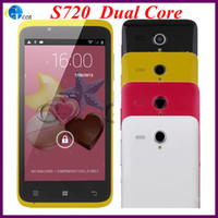 Wholesale Dual core android cell phone S720 inch MTK6572 Dual Core Smartphone FWVGA Capacitive Screen ROM GB MP Support G WCDMA GPS