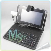 7'' Teclado tapa Soporte de Teclado USB de Cuero Cubierta de la caja de 7 pulgadas Tablet PC Q88 A20 de Venta de la Promoción el precio más Barato