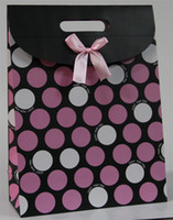 Wholesale Fashion Polka Dot Gift16 cm Paper Bags Clamshell Wrap Flip Bag Christmas Gift CA18