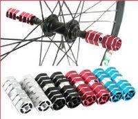 bazooka bikes - Colorful Bazooka Shape Mountain Road Bike Bicycle BMX Rear Axle Pedal Cyclying Aluminum Alloy Legs A Pair