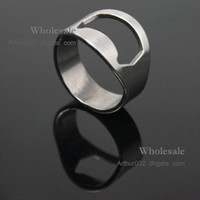 Wholesale TopSale Stainless Steel Finger Ring Rings Beer Bottle Opener Can Open Tin Opener Home Use for Students Men Women Kitchen Dining Bar