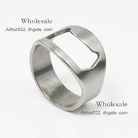 beautiful steel cans - Beautiful Gift Stainless Steel Finger Ring Rings Beer Bottle Opener Can Open Tin Opener