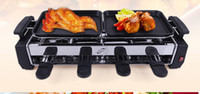 Wholesale Korean household smokeless stainless steel electric heating barbecue pits