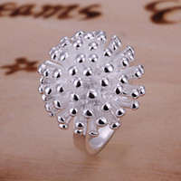 China-Tibet band fireworks - Vintage silver fireworks rings Cool fashion rings size mixed size