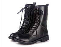 Wholesale High Quality Lady Short Martin Boots PU Low Heel Solid Color Black Color Eyelets Boots PR A8
