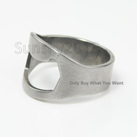 Wholesale New Arrival Christmas Gift Brand New Finger Ring Rings Beer Bottle Opener Steel Stainless Openers