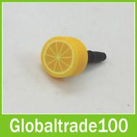Wholesale Fruit Anti Dust Plug Stopper Cute Dustproof Earphone Cap mm Jack Colorful for iPhone Samsung Smart Phone