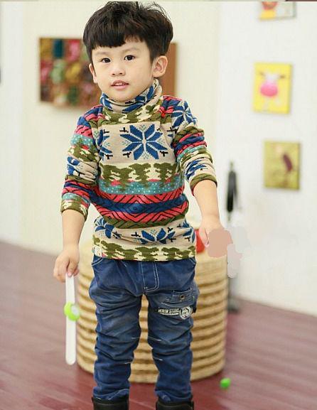 Children 39 S Kids Boy 39 S Winter Pullover Turtleneck Velvet