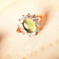 Bohemian Women's Gift Free shipping,Exquisite fashion traditional oval opal crystal bridal jewelry female ring wedding ring