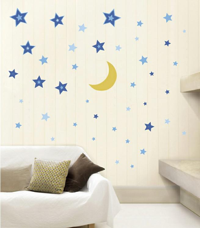 new arrival kids wall sticker moon and stars sticker 28 99 wall decal vinyl sticker decals art decor design