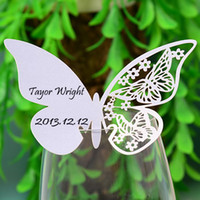 Place Cards & Card Holders wedding place cards - 11 cm butterfly wedding place card wine card wedding gift