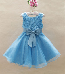 Wholesale baby girls evening dress sundress gilrs party dresses flower child s wedding dress T