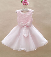 baby girls party dress luxury kid's party dresses flower chi...