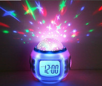 alarm clock modern design - Romantic music starry star sky projection digtial alarm clock with calendar thermometer counterdown creative modern design
