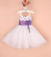 pretty flower child dress haning strap rose bridemaid dress ...